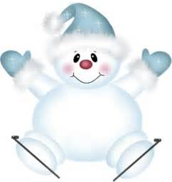 Cute christmas snowman cute png snowman with skies clipart