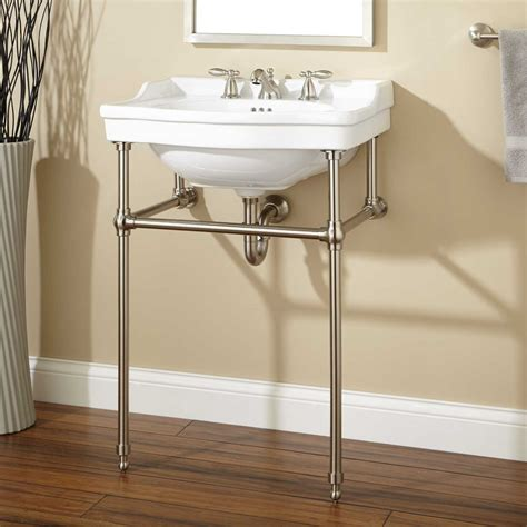 bathroom sink stand pennington console sink with brass stand bathroom