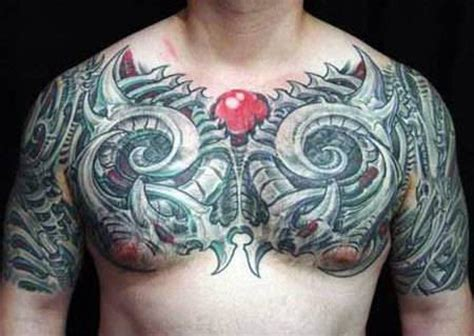 biomechanical chest tattoo designs biomechanical tattoos and designs page 224