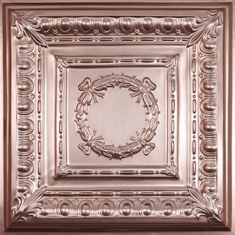 copper ceiling tiles ceilume empire faux copper ceiling tile 2 x 2 lay in or glue up the home depot canada