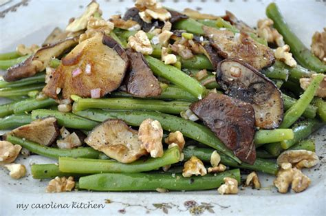 carolina kitchen greens recipe my carolina kitchen green beans and oyster mushrooms