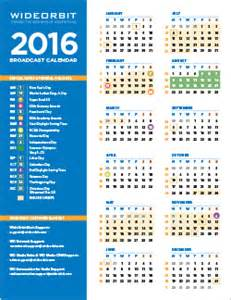 Broadcast Calendar 2015 2016 Broadcast Calendar