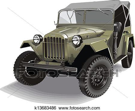 army jeep drawing clip of retro army jeep k13683486 search clipart