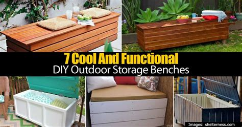 do it yourself storage bench 7 cool and functional diy outdoor storage benches