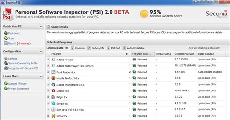 programs secunia secunia personal software inspector psi review inolsopes
