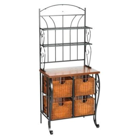 iron wicker bakers rack home pantry kitchen furniture 198 best images about new home wish list on pinterest