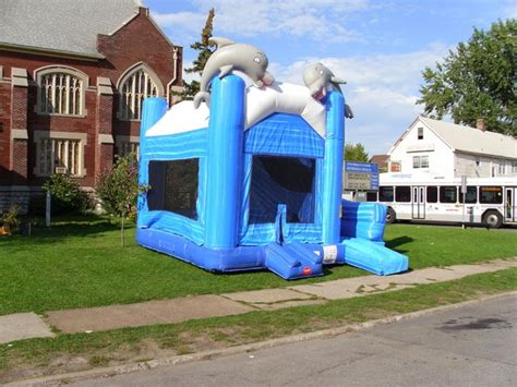 Inflatable Bouncer For Rent Dolphin Themed Only 349 Bounce House Rental Ca