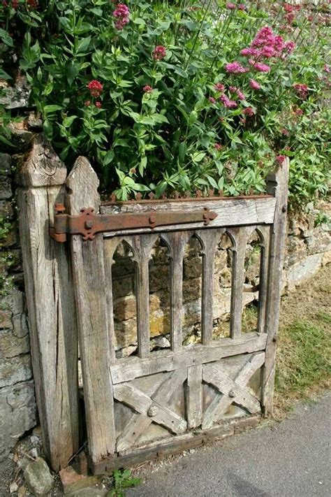 wooden gate in the garden garden home