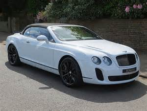 Bentley Convertible White 2011 11 Bentley Continental Supersports Convertible