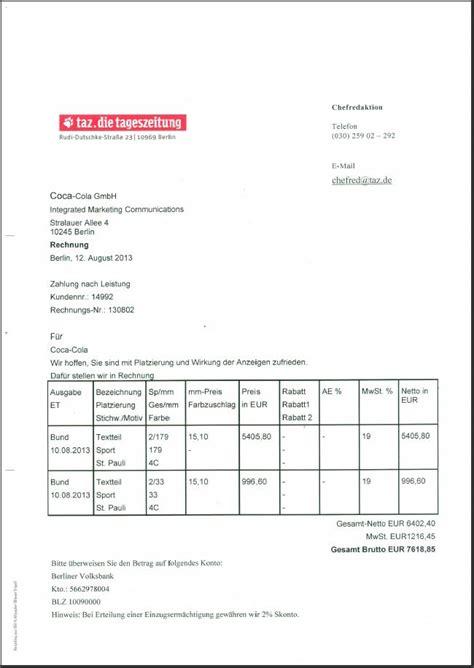 Muster Rechnung Verein Sportwerbung Auf Den Leibes 252 Bungen Alle Rechnungen Sind