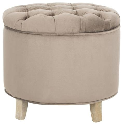 Amelia Tufted Storage Ottoman Amelia Tufted Storage Ottoman White Contemporary Footstools And Ottomans By Zopalo