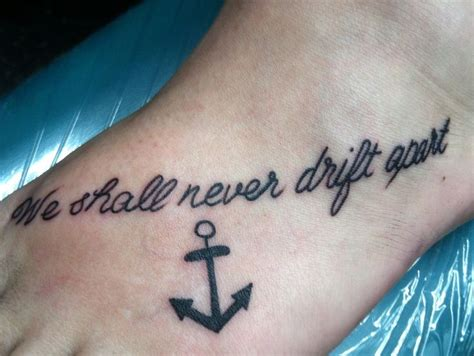 best friend tattoos pinterest anchor foot best friend matching