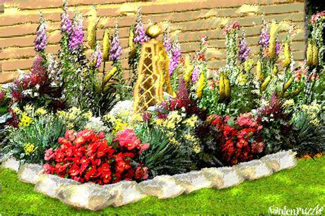 Flower Bed Gardenpuzzle Online Garden Planning Tool How To Plan A Flower Garden
