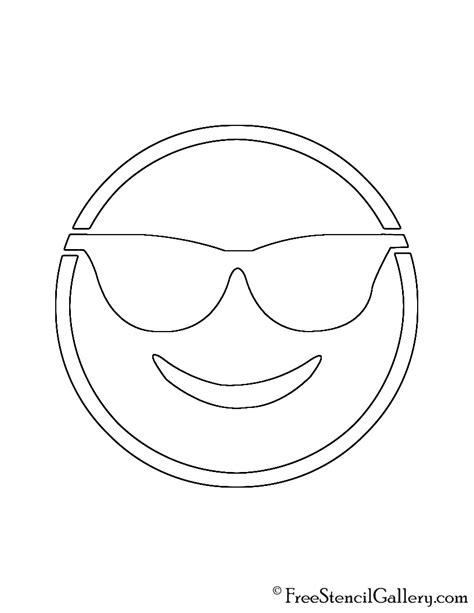 printable pumpkin stencils emoji emoji sunglasses stencil free stencil gallery