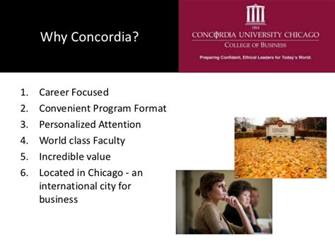 Mba 3 International Applicants by A Concordia Chicago Mba For International Students