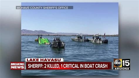 boat crash lake mohave high speed boat crash kills 2 and critically injures