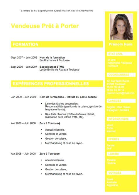 Création De Cv by Resume Format Exemple De Cv Format Odt