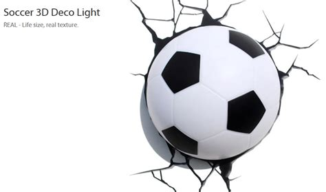 3d Fx Deco Led Light Sports Soccer Ball World Cup Wall