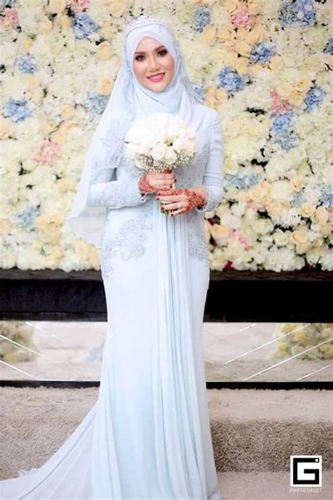 Blus Muslim White sophisticated new muslim bridal dresses with idea