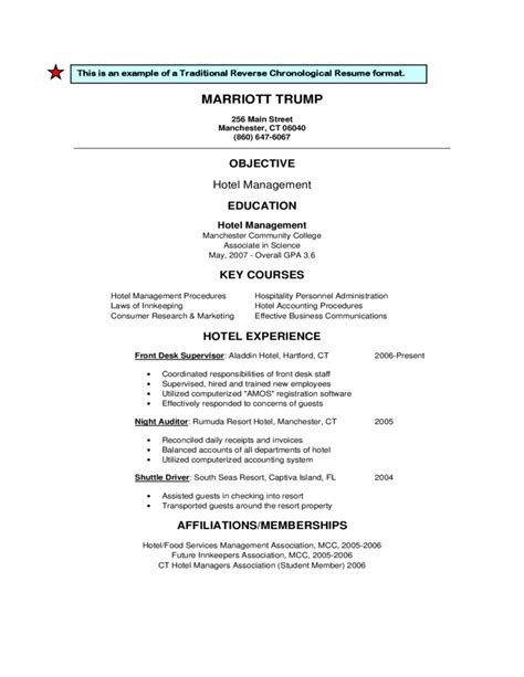 Reverse Chronological Resume Example by Traditional Or Reverse Chronological Resume Format Free