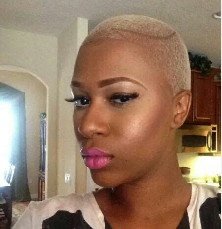 ai rocker with hair on his head she s rocking this blonde twa color my natural hair or