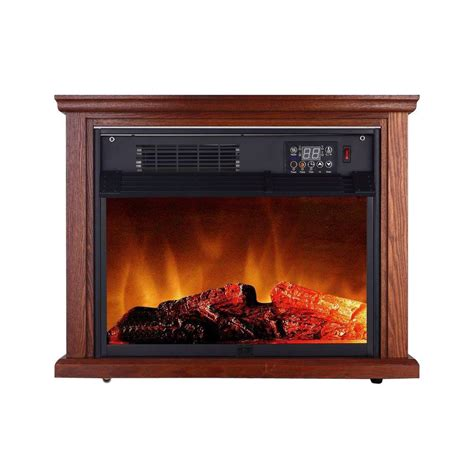 electric fireplace heater home depot honeywell energysmart 1500 watt infrared convection