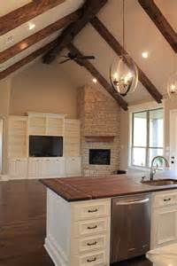 the two countertops and fireplaces on
