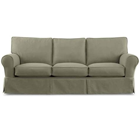 linden slipcover sofa current linden slipcover twill in loden