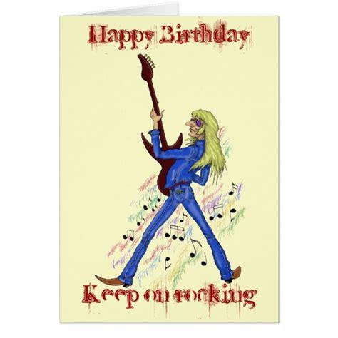 printable birthday cards with guitars cool rock guitarist happy birthday card design zazzle com