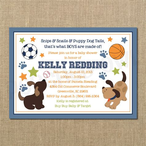 how to shower a puppy puppy baby shower invitations theruntime