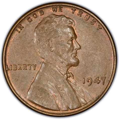 1947 lincoln wheat pennies values and prices past sales