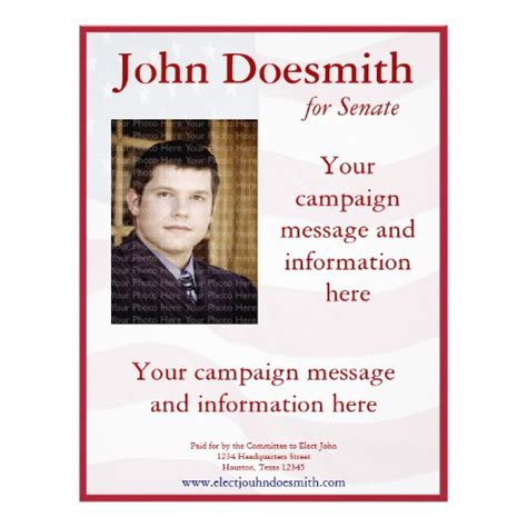 free political flyer templates political caign flyer template zazzle