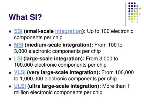 large scale integration vlsi circuits were introduced in the fifth generation computers ppt cse 301 history of computing powerpoint presentation id 59644