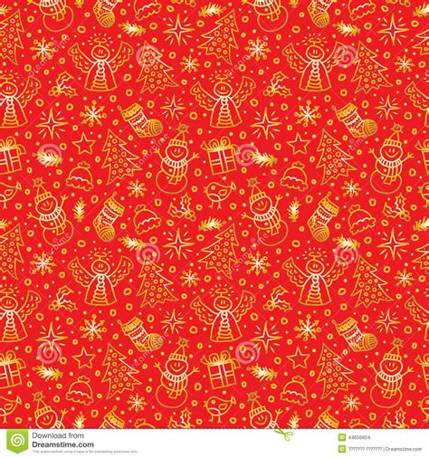 gold red pattern christmas red gold seamless pattern vector stock vector