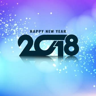 glowing 2018 happy new year abstract happy new year 2018 background vector free