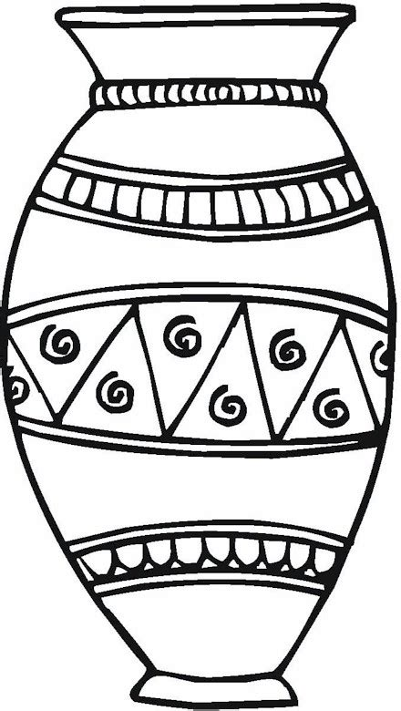 coloring page of a vase vase pottery coloring page