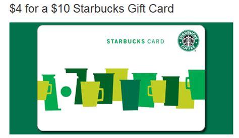 Starbucks Gift Card Support - 4 for a 10 starbucks gift card