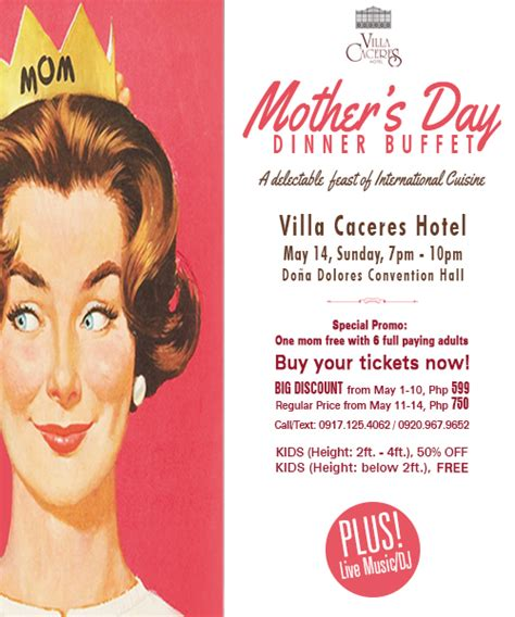 treat your mom to something special this mother s day treat your mom to a mother s day buffet at villa caceres hotel