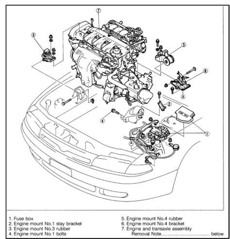 car engine repair manual 1999 mazda 626 transmission control motor mount installation 1993 2002 2 5l v6 mazda626 net forums