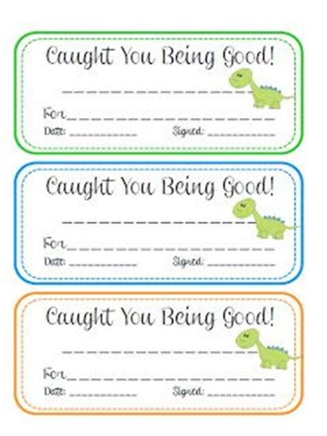 printable caught being good tickets 17 best images about caught you being good ideas on