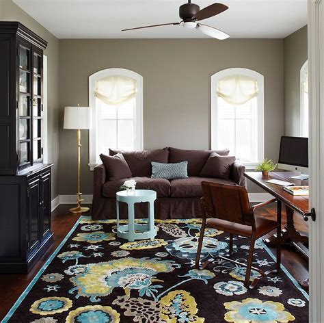 what color goes with brown furniture 20 colorful ways to enliven your gray home office