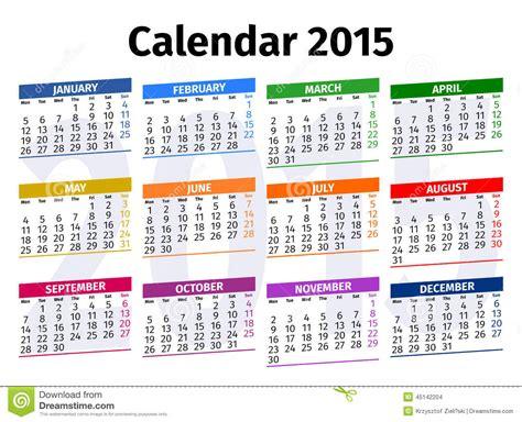 Kalender Englisch Calendar 2015 Stock Photo Image Of February