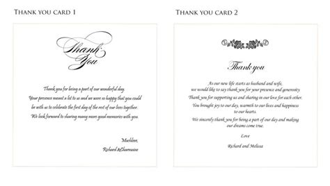 thank you letter wedding gift exles thank you card photography effect sle wedding thank