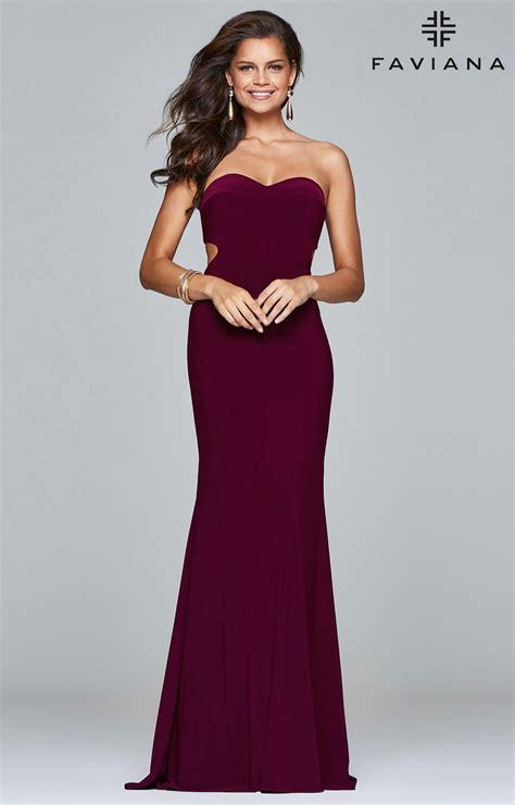 faviana  sleek strapless sweetheart dress prom dress