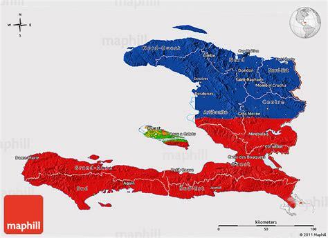 country of haiti map haiti map and flag