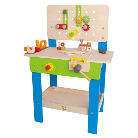 childrens wooden work bench master workbench wooden playset for kids educational