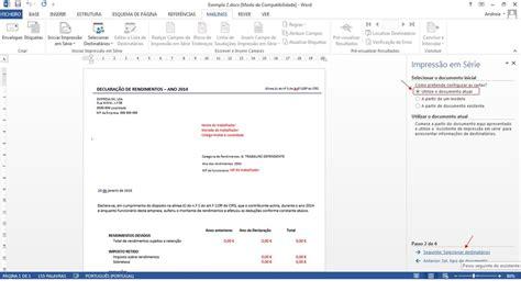 modelo de informe de rendimentos em excell 2016 modelo de informe de rendimentos 2015 em word irpf 2017