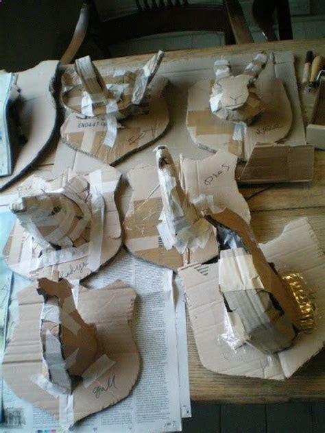Steps In Paper Mache - paper mache animal trophies step 1 craft