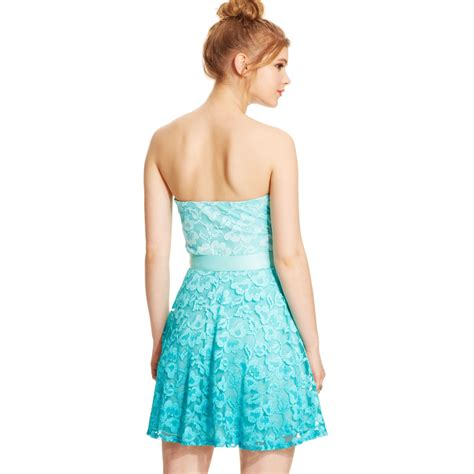 Ombre Jaket Lace Prada lyst as u wish juniors strapless lace ombre dress in blue