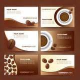 beauticontrol business card templates coffee vector logo template set stock vector